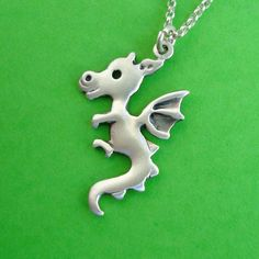 Dragon Necklace sterling silver Year of the Dragon by zoozjewelry, $38.00