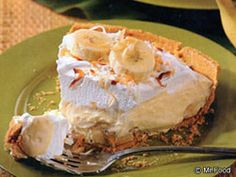 This easy, light pie recipe is a diner-worthy version that's big on flavorful comfort, without the guilt. No need to sacrifice taste with our easy-as-pie Banana Cream Pie!