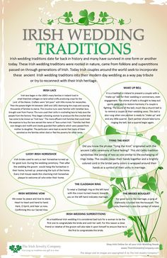 Wedding irish wedding traditions info graphic - Irish wedding traditions date far back in history and many have survived in one form or another today. These Irish wedding traditions were rooted in nature came from folklore and superstitions for … Wedding Vows, Dream Wedding, Wedding Day, Wedding Hacks, Wedding Quotes, Wedding Readings, Wedding Ceremonies, Blue Wedding, Trendy Wedding