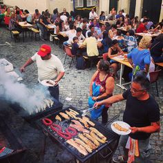 June Festivities (saint Antony) in the old neighborhoods - food, drinks and music all night round #Lisbon #Portugal
