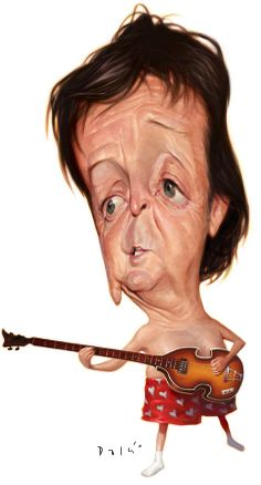 Paul McCartney (caricature)      For more great pins go to @KaseyBelleFox