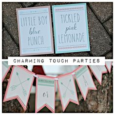 Bows or Arrows Gender Reveal Party decorations.  Tribal / Aztec / boho gender reveal banner and signs.  Fully assembled and customizable. by CharmingTouchParties on Etsy