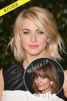 Apparently the no. 2 most popular celebrity hairstyle in America right now...but it takes guts to cut off that many inches!