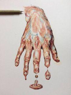 ideas gcse art sketchbook hands for 2019 ideas gcse art sketchbook hands for 2019 melting_clock Magazine - Julia Randall: Lures, Decoys, Tongues, and Bubble Gum More I'm Yellin' Timber Body art by Willey Noel Badges Pugh shop Under Thy Fingers*. Art Inspo, Inspiration Art, Portfolio D'art, Fashion Portfolio, Art Sketches, Art Drawings, Pencil Drawings, Gcse Art Sketchbook, Sketchbook Ideas