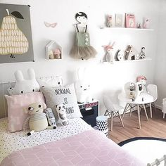 Little girls room inspiration from @marciaplus5 Scandi-style room must…