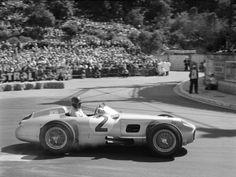 Juan Manuel Fangio at the 1955 Monaco Grand Prix