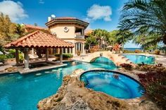 Awesome House with amazing pools.  Just such a house I've always dreamed of :-)it just has Mexican look:)