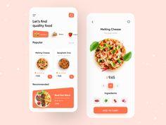 Mobile Ui Design, App Ui Design, Food Design, Layout Design, Adaptive Design, Restaurant App, Website Header Design, Android Design, Work Meals