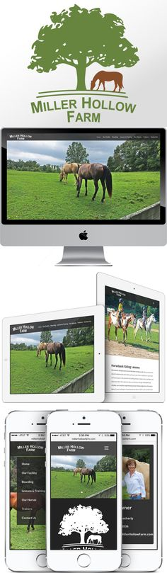 Miller Hollow Farm discovered Pioneer Media by Googling for a good web designer in the East Tennessee area. We showed up on the 1st page, and the owners called us up. They did not have any website for their horse boarding and training farm, so we ordered MillerHollowFarm.com and got started on a design! Their High-Def photographs truly give life to the modern design. The design is mobile-friendly, and the code has been optimized for search engine rankings.