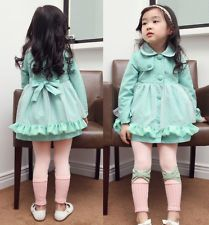 Girl Trench Coat Wind Jacket 2-3Y Baby Dress Kids Clothes Outwear Autumn Winter