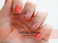 Maria's nail: 410. Falling Leaves - Stamping nail art