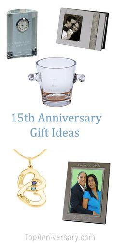 Crystal Gift Ideas 15th Wedding Anniversary: Happy Anniversary 15
