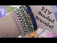 DIY Beaded Bracelet ✧ Simple and Chic!