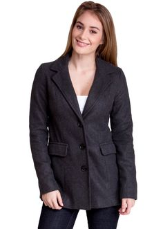 Three Button Winter Jacket J30532CH, clothing, clothes, womens clothing, jeans, tops, womens dress