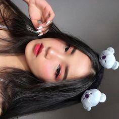 Para seeing that cacheadas at the crespas, dormir sem desmanchar operating system cachos parece até Ulzzang Girl Fashion, Ulzzang Korean Girl, Cute Korean Girl, Asian Girl, Asian Makeup Looks, Korean Makeup Look, Aesthetic Makeup, Aesthetic Girl, Best Beauty Tips