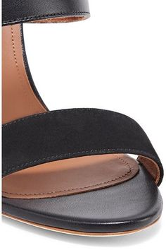 Malone Souliers - Lacey Leather And Suede Mules - Black - IT40.5