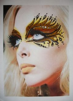 Masquerade face art design by Laura Millar (MUA & Lecturer) from www.exclusivelythemed.co.uk