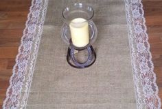 Burlap and Lace Table Runners with Natural Color by RusticRunners