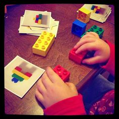Hupsutteluja: Duplotehtävät // DIY Duplo (or Lego) Puzzles - great for Busy bags