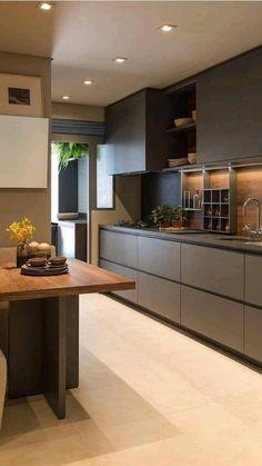 Luxury Kitchen Design, Kitchen Room Design, Kitchen Cabinet Design, Kitchen Sets, Home Decor Kitchen, Interior Design Kitchen, Kitchen Furniture, Home Kitchens, Diy Kitchen