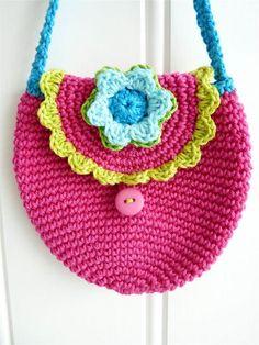 Bolsa crochet infantil