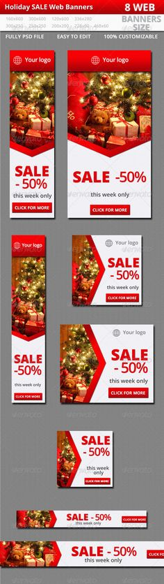 Christmas Sale Web Banners Template PSD   Buy and Download: http://graphicriver.net/item/sale-web-banners/6363730?WT.ac=category_thumb&WT.z_author=veastudio&ref=ksioks