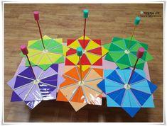 3세 만들기 우산 만들기 비오는날 쓰지 마라 ㅋㅋ : 네이버 블로그 Cube, Paper Crafts, Toys, Paper Crafting, Activity Toys, Tissue Paper Crafts, Paper Craft Work, Clearance Toys, Papercraft