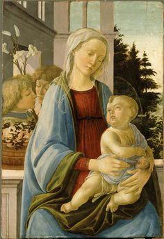 Filippino Lippi | La Vierge et l'Enfant avec anges dite Vierge à la grenade…