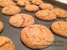 Addicted to Recipes: Chewy Ginger Cookies Baking Recipes, Cookie Recipes, Dessert Recipes, Baking Ideas, Holiday Baking, Christmas Baking, Christmas 2014, Xmas, Christmas No Bake Treats