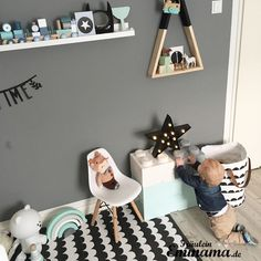 Boy's Room- Impressionen aus dem Babyzimmer Kinderzimmer in Mint und Grau
