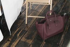 I love burgundy bags at the moment