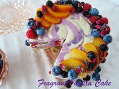 Raw Fruits of Summer Cake by Fragrant Vanilla Cake