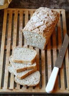 Oat bread with soy milk Soy Milk, Ciabatta, Food And Drink, Bread, Baking, Dinner, Mat, Silk Soy Milk, Dining