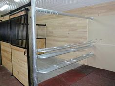 Barn Wash Stall Posts, Tie Ring and Shelving Package 10'  System Fencing