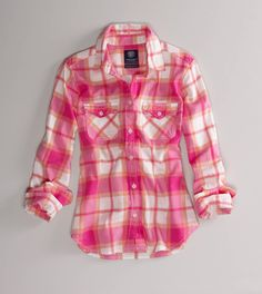 American Eagle Outfitters Favorite Light Flannel Shirt Trad Plaid - More prep than grunge, tartan plaids cross classifications with a Rockabilly swagger. Neo Grunge, Grunge Style, Soft Grunge, Fashion 90s, Look Fashion, Womens Fashion, School Fashion, Street Fashion, Korean Fashion