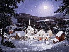 PAISAJES ANIMADOS: Paisaje animado de navidad (6)