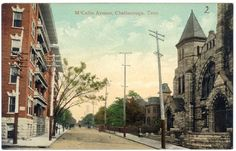 Chattanooga, Tennessee,  A View Along M'Callie Avenue