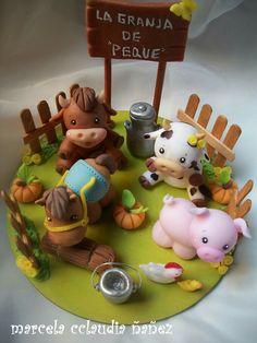 Fondant Cake Toppers, Fondant Cupcakes, Fondant Figures, Cupcake Toppers, Wedding Cakes With Cupcakes, Wedding Cakes With Flowers, Flower Cakes, Cake Decorating With Fondant, Cake Decorating Tips