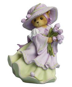 This Cherished Teddies Tulip Bouquet Figurine by Cherished Teddies is perfect! #zulilyfinds