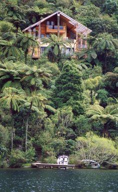 Pounamu Lodge, Rotorua, North Island, New Zealand New Zealand North, New Zealand Travel, Places To Travel, Places To See, Wonderful Places, Beautiful Places, Rotorua New Zealand, New Zealand Houses, Villas