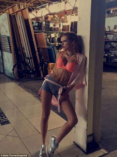 'Walking around in a bra': Bella Thorne shared sexy Snapchat stripped down to her underwear... including boyfriend Tyler Posey's boxers