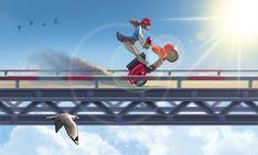 Sky rider by glooh on DeviantArt Vive Le Vent, Fighter Jets, Sketches, Sky, Deviantart, User Profile, Bridges, Illustration, Artist