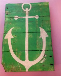 Wooden Pallet Anchor Wall Hanging by MaidenLongIsland on Etsy