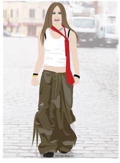 Avril Lavigne (Photoshoot Steven Simko 2002) Illustration by: @Karina Mignoni Karina Mignoni