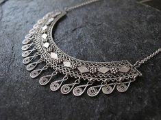 Filigree Silver  necklace, Yemenite necklace, Ethnic necklace,silver necklace, Israel jewelry