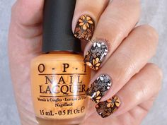 Born Pretty Store BP L020 orange gradient stamped nail art http://ordinarymisfit.com/2015/07/24/born-pretty-store-stamping-plate-review-bp-l-020/