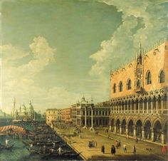 Manner of Giovanni Antonio Canal, il Canaletto The Doge's Palace, Venice, and the Molo, looking west towards the Punta della Dogana and the Church of Santa Maria della Salute Price realised USD 49,350