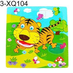 2016 New Multicolor Animals Wooden 9 Pieces Colorful Jigsaw Puzzle Toy Toddler for Kids 7LAH