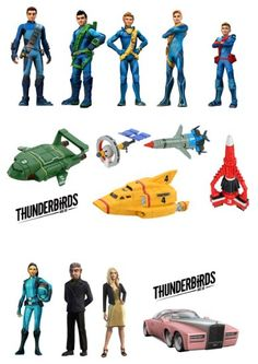 16 Stand Up Thunderbirds Are Go Premium Edible Wafer Paper Cake Toppers