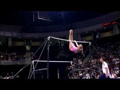 watching nastia on bars never gets old. why she wasnt olympic champion on this event i will never know...